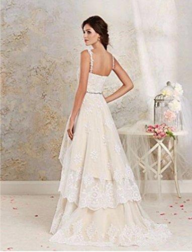 Mingxuerong Brautkleid Hochzeitskleid Vorne Abnehmbarer Champagner Rock KurzHinten Elfenbein Lang qHzqC