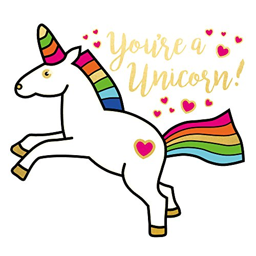 MAGICAL UNICORN set of 25 premium waterproof temporary colorful metallic gold/white unicorn jewelry foil Flash Tattoos - party favors