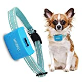 MASBRILL Rechargeable Dog Bark Collar – Vibration No Shock Collar – Humane Waterproof Anti Bark Training – Stop Barking Collar for Small Medium Large Dogs – Best No Bark Control (Blue)
