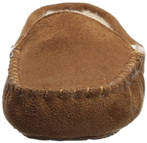 Floopi Womens Indoor Outdoor Fuax Fell gefüttert Mokassin Slipper W / Memory-Foam Kastanie-306