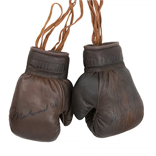 Title Boxing Ali Collectors Leather Autograph Gloves, Brown