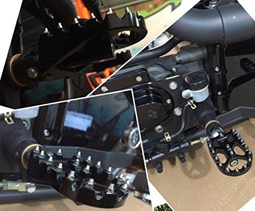 FLO MOTORSPORTS MX STYLE HARLEY DAVIDSON DYNA FOOT PEGS (Black) by Flo Motorsports (Image #8)