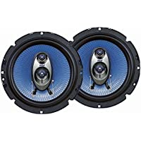 Pyle 6.5 Three Way Sound Speaker System - Round Shaped Pro Full Range Triaxial Loud Audio 360 Watt Per Pair w/4 Ohm Impedance and 3/4 Piezo Tweeter for Car Component Stereo PL63BL