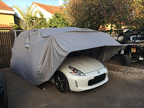 Ikuby All Weather Proof Medium Carport, Car Shelter, Car Canopy, Car Garage, Car shed, Car House, Car Park, Foldable, Retractable, Lockable, Durable Shelter