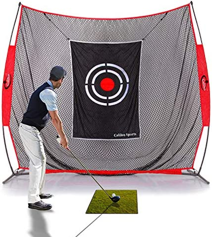 GALILEO Golf Practice Net Driving Range Golf Hitting Nets for Indoor Outdoor with Golf Training Aids Variety of Options