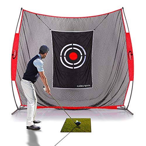 GALILEO Golf Practice Net 7x8Feet Golf Hitting Nets Driving Range Indoor Outdoor Golf Training Aids with Target Carry Bag -