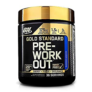 Optimum Nutrition Gold Standard Pre-Workout 30 Serve Supplement, 300 Gram