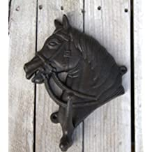 Large Black Cast Iron Wall Mounted Horse Head Decorative Wall Hook