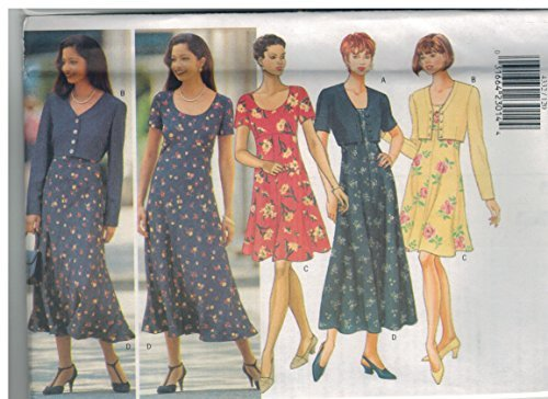 (4332 UNCUT Butterick Misses Sewing Pattern Semi Fitted Jacket Dress Size 12 14 16)