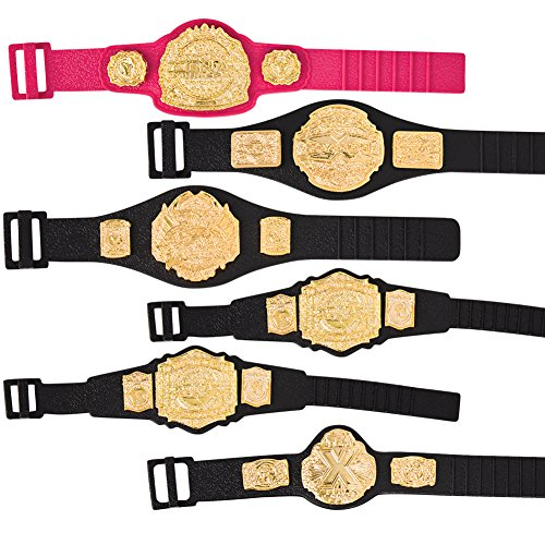 Set of 6 TNA Jakks Action Figure Belts