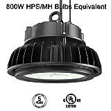 Adiding LED High Bay Light, UFO High Bay Lighting 200W (800W HID/HPS Equivalent) 26000 Lumens 130Lm/W 5000K Lumileds LED Chips Dimmable Sosen Driver for Garage Workshop Warehouse,U