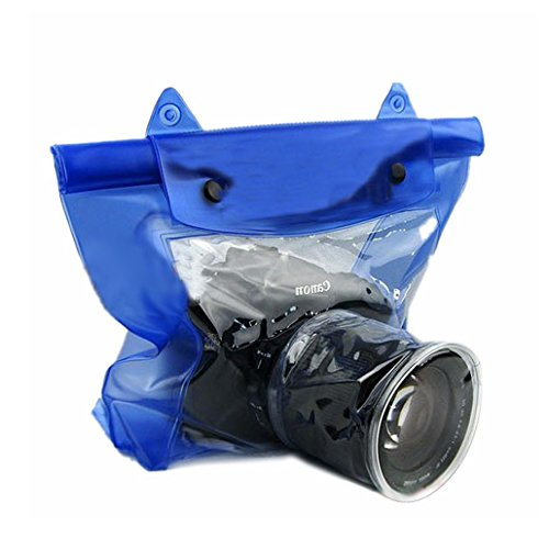 era Waterproof Bag Housing Case Pouch Cover for Canon Nikon -Blue (Digital Camera Housing)