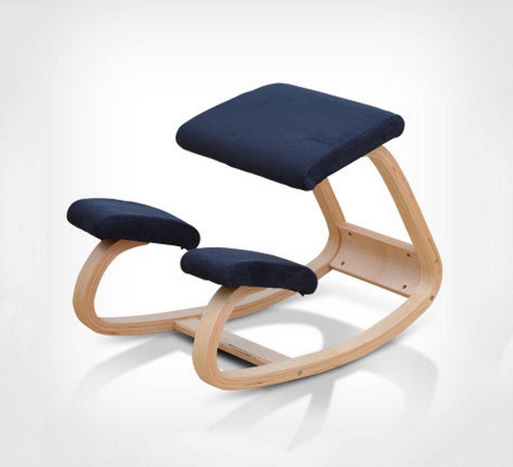 Chaise - bois massif Chaise ergonomique d'un fauteuil d'ordinateur Chaise de correction correcte Chaise de correction