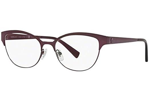 63cc314f802 Amazon.com  Versace Women s VE1240 Eyeglasses 53mm  Clothing