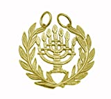 New Symbol Jewish People & State of Israel 7 Branch Menorah 24K Gold Plated Candle