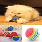 Wholesale 2X Small Colorful Pet Cat Kitten Soft Foam Play Balls Activity Toys
