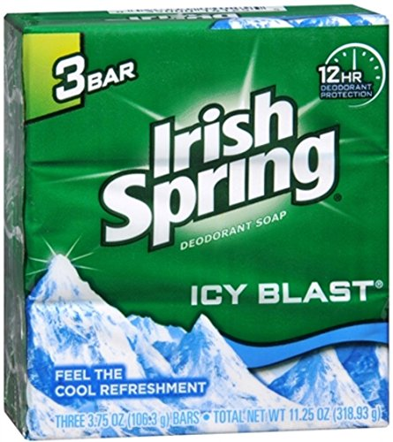 - Irish Spring Bath Bar, Icy Blast 3.75 Oz, 12 Count 4pack of 3 Bar