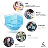 iBstone Disposable Face Masks, 3-Layer Breathable