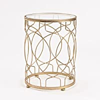 InnerSpace Luxury Products Loop Side Table, Gold