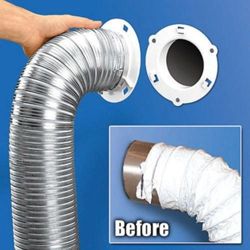 Dryer Dock 5000 1 Dryer Vent Quick Connect 6 White ()