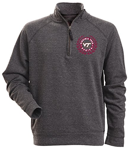 Virginia Tech Fleece (NCAA Virginia Tech Hokies Men's Rockhill Textured Heather 1/4 Zip Fleece Pullover, XX-Large, Charcoal Heather)