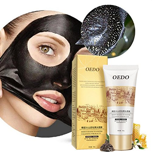 Shouhengda Blackhead Remover Propolis Deep Cleansing Purifying Peel Black Mud Face Mask (Volcanic Mud)