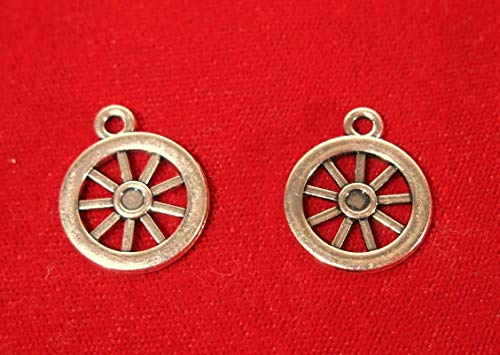 (Lot of 15pc Wagon Wheel Jewerly Making Charms Supplies DIY for Necklace Bracelet and Crafting by CharmingSS)