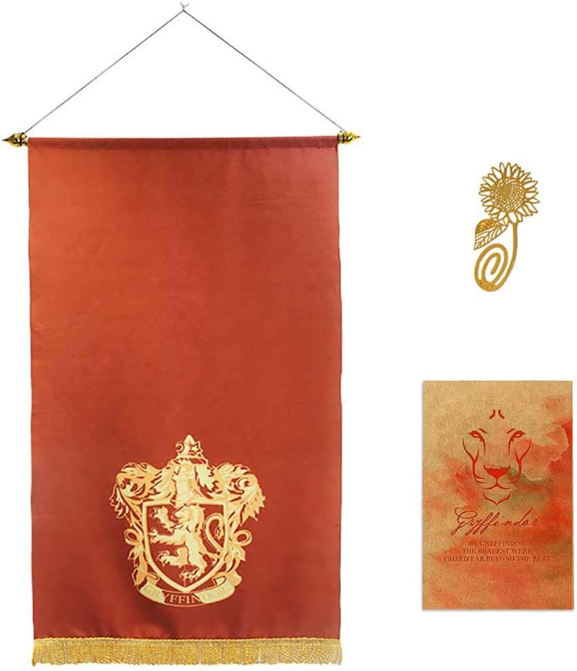Garden and Bedroom Wall Flag Decoration for Harry Party Potter Cool Gryffindor Slytherin Hufflepuff Ravenclaw Banner[70X125CM]