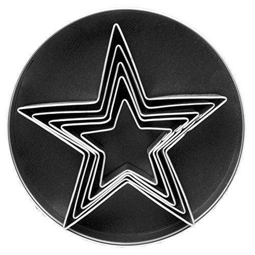 Fox Run Stainless Steel Star Cookie cutters, 1 x 3.5 x 3.5 inches, Metallic