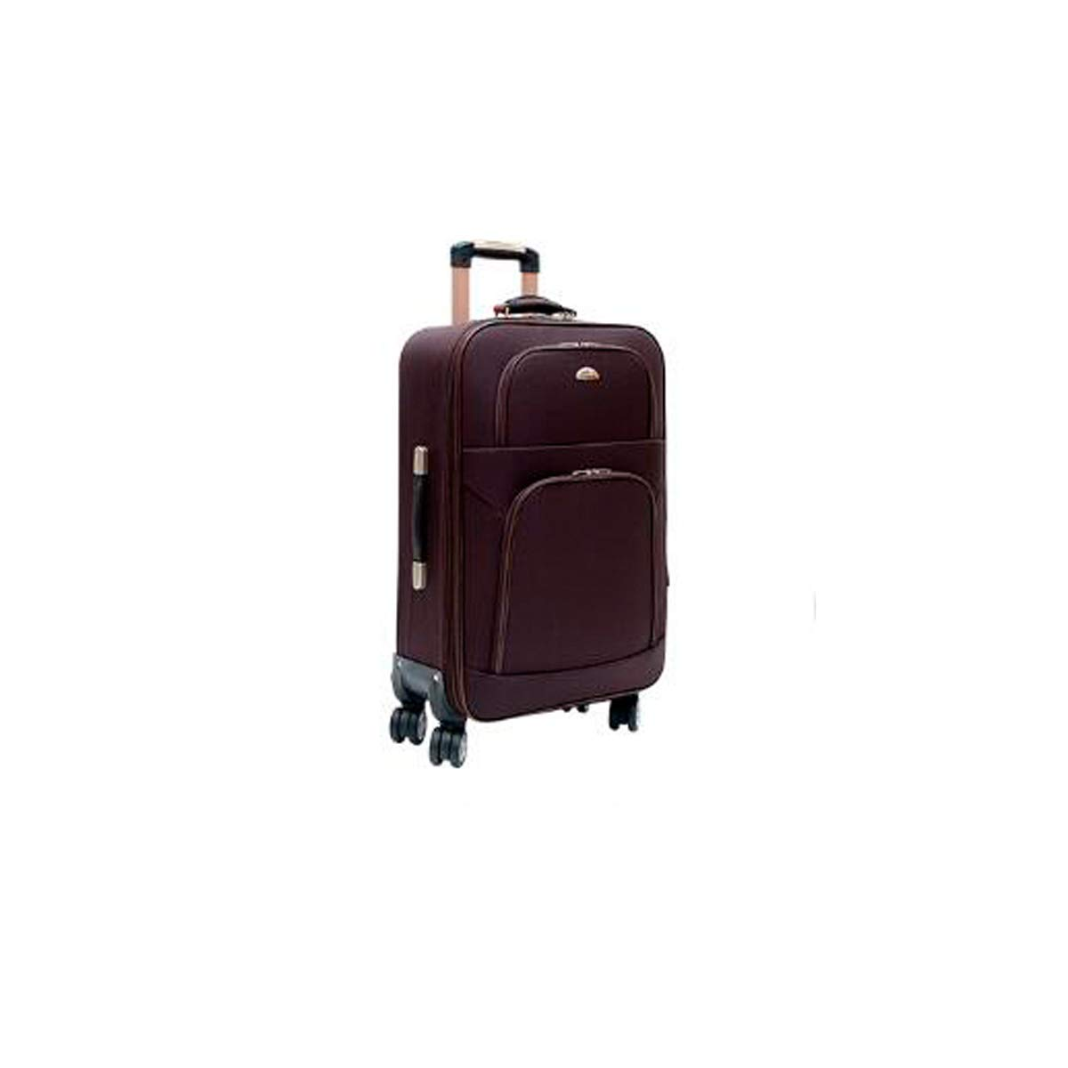 20 Best Gift Bahaowenjuguan Soft Rotating Luggage Carrying Case Travel Organizer Color : Brown Trolley Case Black