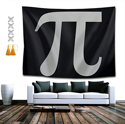 YongColer Bohemian Wall Hanging Hippie Hippy Tapestry, The Mathematical Symbol Pi 3D Print Indian Multi-Purpose Decorative Wall Tapestry, Abstract Tapestry, Bedspread Picnic Blanket