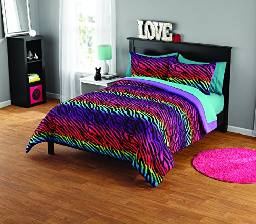 Used, Pop Shop Rainbow Zebra Comforter Set for sale  Delivered anywhere in USA