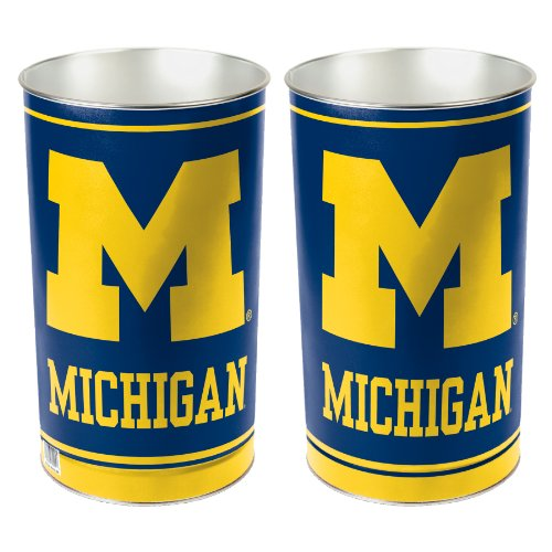 NCAA Michigan Wolverines Wastebasket (Michigan Basket)