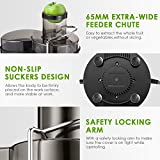 Juicer Juice Extractor, Aicook 3 Wide Mouth Stainless Steel Centrifugal Juicer, BPA-Free, Non-Slip Feet, Three Speed Juicer Machine for Fruits and Vegetable