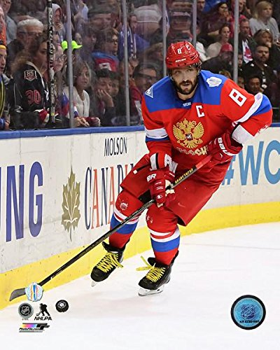"Alex Ovechkin Team Russia 2016 World Cup of Hockey Action Photo (Size: 8"" x 10"")"