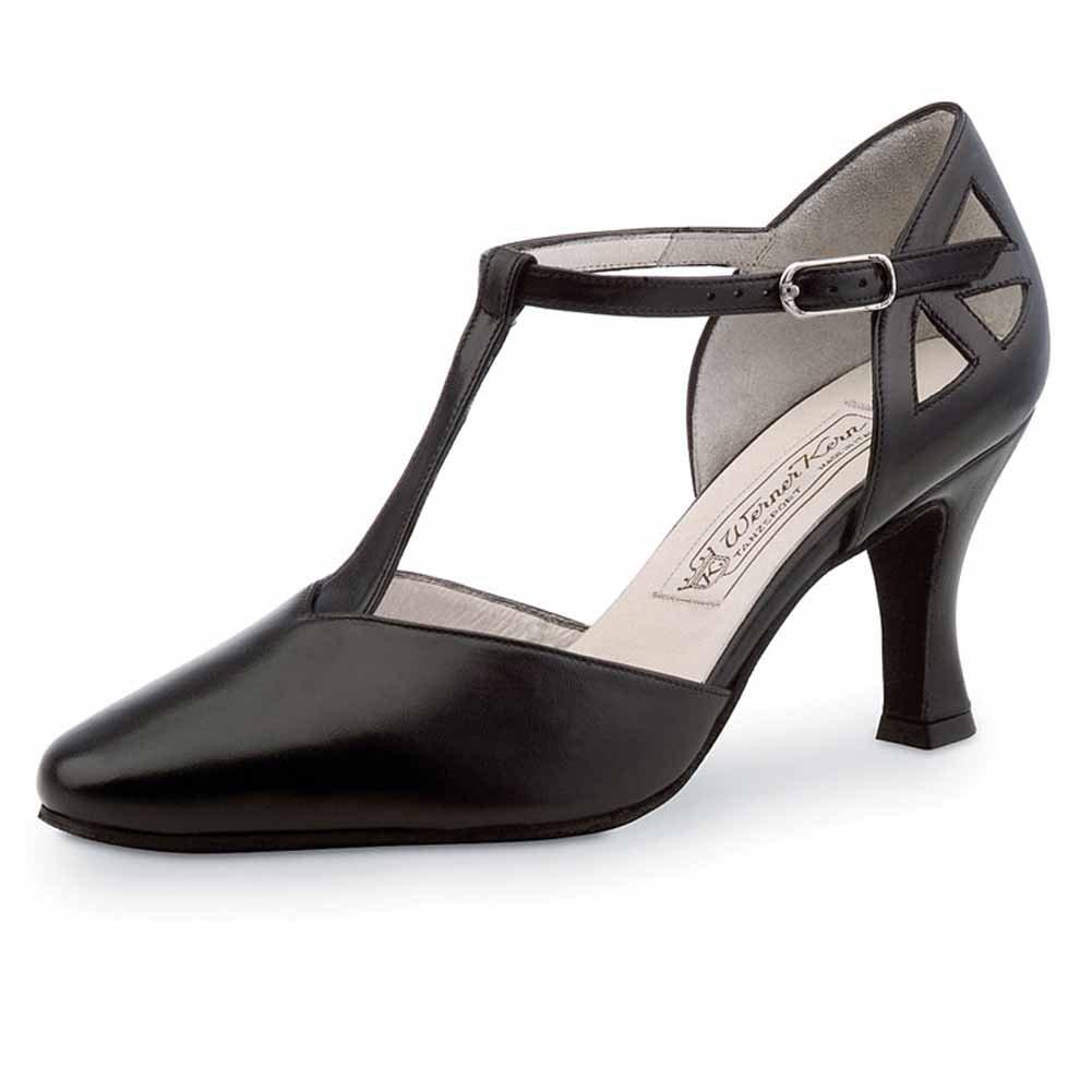 Werner Kern Femmes Chaussures de Danse Andrea - Cuir Noir - 6, 5 cm