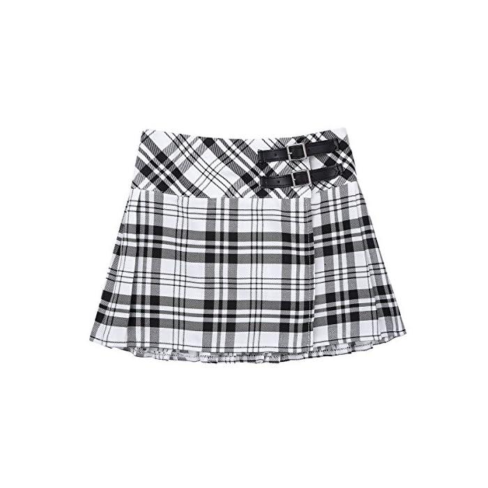 517JhCESvaL La falda está hecha de poliéster y material de algodón, lavado a mano. Tabla de tallas significa rangos de edad para niñas, pero solo son orientativos. Poliéster algodón