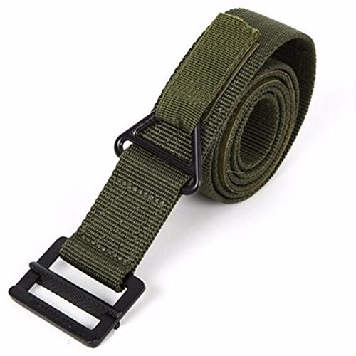 Qiankun BLACKHAWK CQB ADJUSTABLE EMERGENCY RESCUE RIGGER MILITARY TACTICAL BELT 125cm (Green)