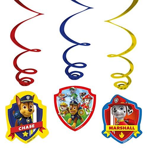 Amscan 999144 Paw Patrol Swirls Decorations]()