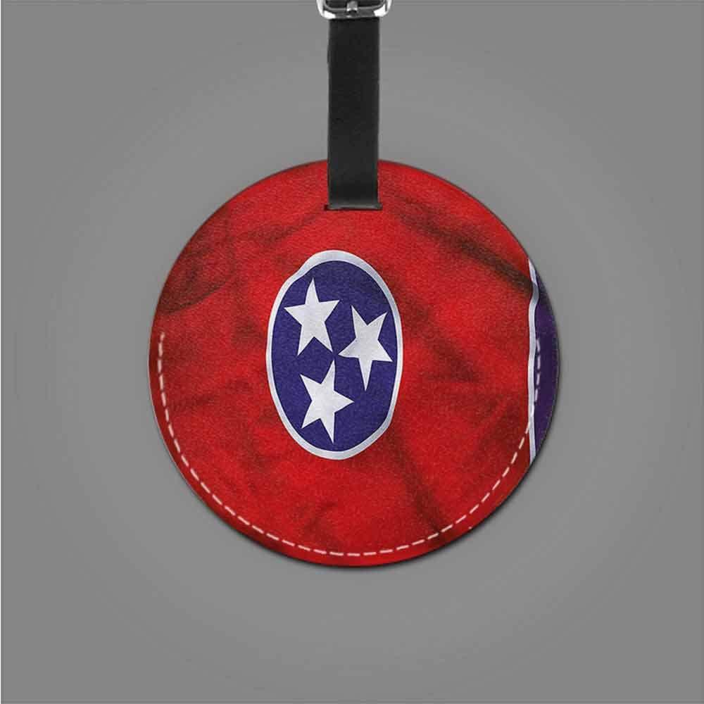 Men Luggage Tag American,Three Star Unity Tennessee Tag Portable Women
