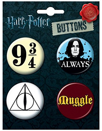 """Ata-Boy Harry Potter Favorites Assortment #3 Set of 4 1.25"""" Collectible Buttons"""