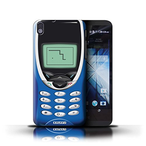Kobalt® Imprimé Etui / Coque pour HTC Desire 816 / Nokia 8210 bleu conception / Série Portables rétro