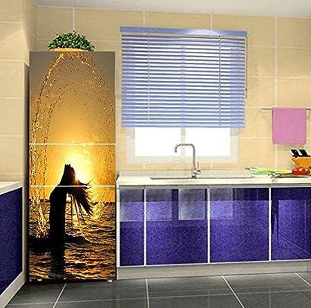 Gosunfly Etiqueta Engomada De La Puerta Del Refrigerador 3D, Sala ...