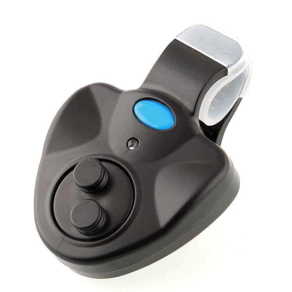 BloomGrün Co. Schwarze drahtlose Fische beißen Alarmsignal Rod-Lauflicht Sensitive Mat