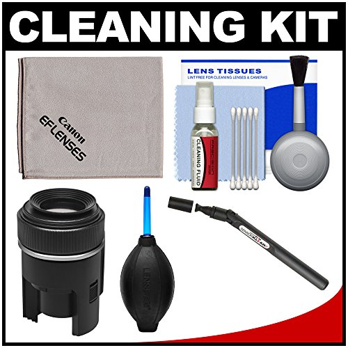 Canon Loupe - Canon Optical Lens & DSLR Camera Cleaning Kit with Brush, Microfiber Cloth, Fluid & Tissue + Blower + Lenspen Sensor Cleaning Kit for EOS 6D, 70D, 7D, 5DS, 5D Mark II III Rebel T5, T5i, T6i, T6s, SL1
