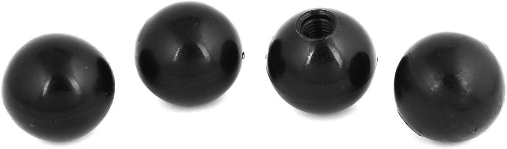 Aexit 4/PCS 12/mm Baumarkt Gewinde montiert 40/mm Dia Kunststoff Kugel Hebel Eisenwaren Kn/öpfe Schwarz