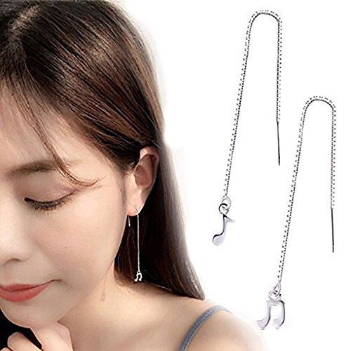 Leiothrix Hypoallergenic Geometrical Asymmetric Music Note Dangle Earrings Jewelry for Women and Girls Hypoallergenic