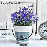 1 PCS Home accessories living room window sill idyllic bonsai decoration green plant decoration simulation plant pot AP5221644 (Color : Blue)
