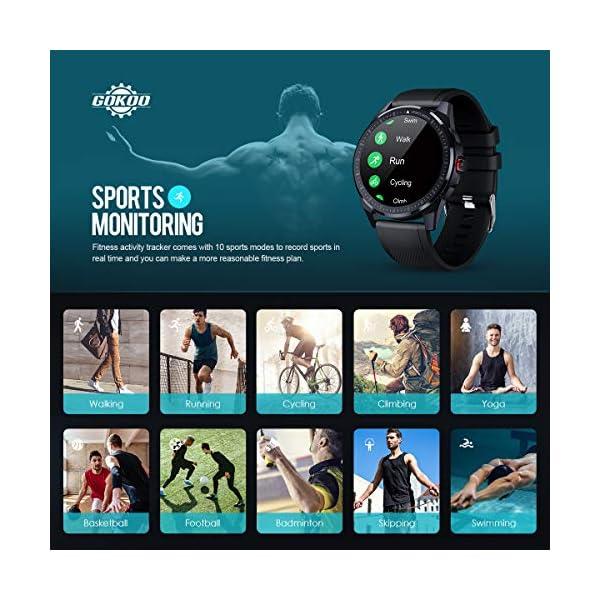Sleep Tracker Smart Watch Full Touch Screen Activity Tracker Breathing Train IP68 Waterproof Sport Smart Watch Step Calorie Camera Music Control (Black)  Smart Tickers