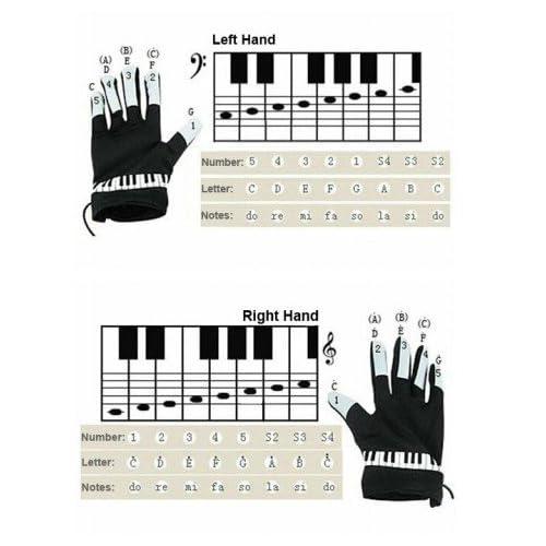 KIKAR Gants électroniques pour piano Taille M